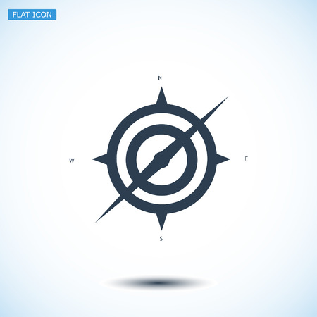 compass icon, vector best flat icon, EPS