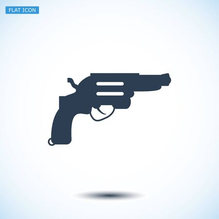 dangerous weapons: Revolver icon, vector best flat icon, EPS