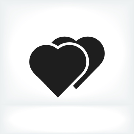 pulsating: heart icon, vector best flat icon,