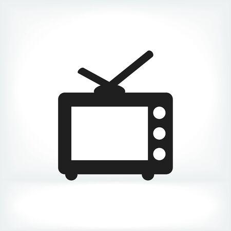 tvset: TV icon, vector best flat icon,