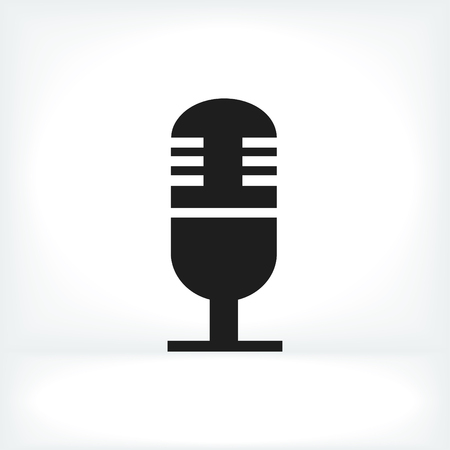 condenser: microphone icon, vector best flat icon, Illustration