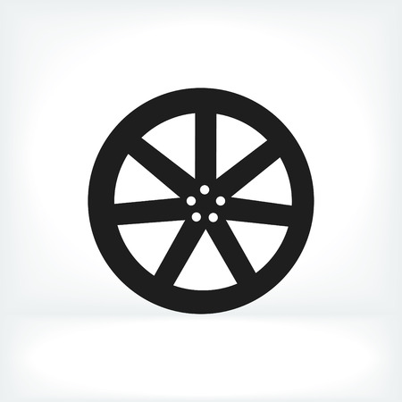 alloy wheel: wheel disks icons, vector best flat icon, Illustration