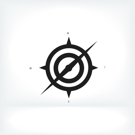 compass icon, vector best flat icon,