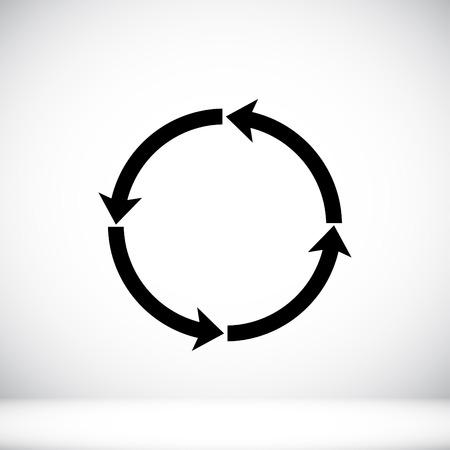 circular arrows vector icon, vector best flat icon