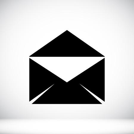 envelope icon: black envelope icon