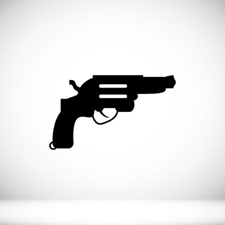 revolver: Revolver icon Illustration