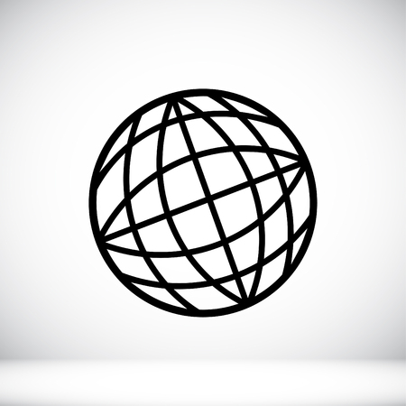 fly around: globe vector icon Illustration