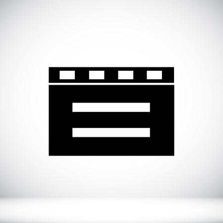 film title: cinema clapper icon Illustration