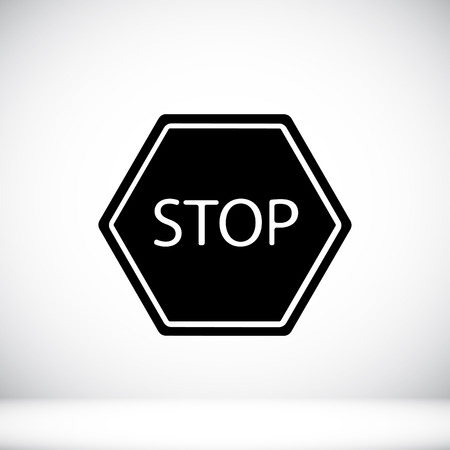 proscribed: stop icon Illustration