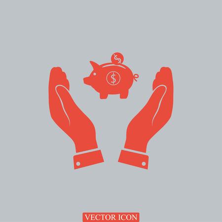 moneybox icon, vector best flat icon Illustration
