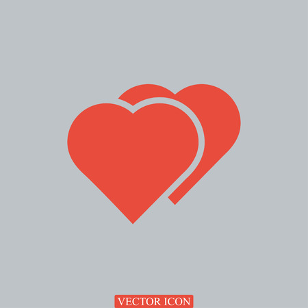 pulsating: heart icon, vector best flat icon Illustration