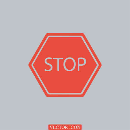 confirm confirmation: stop icon, vector best flat icon Illustration