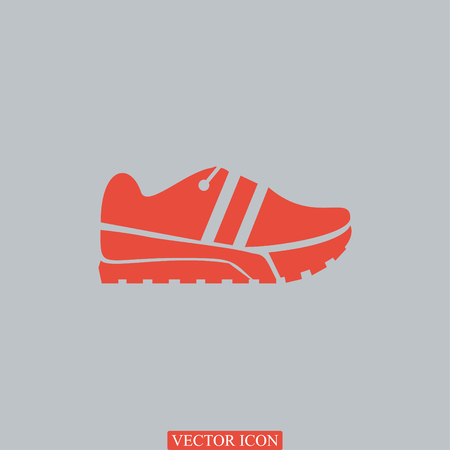 running shoe: Running shoe icon, vector best flat icon Illustration