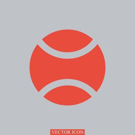 star mascot: tennis ball icon, vector best flat icon
