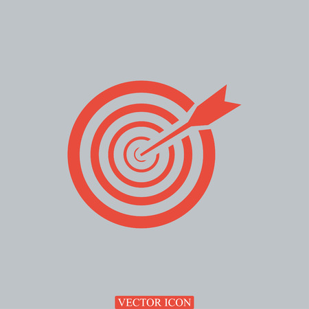 intention: aim icon, vector best flat icon