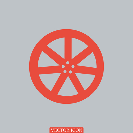 disks: wheel disks icons, vector best flat icon