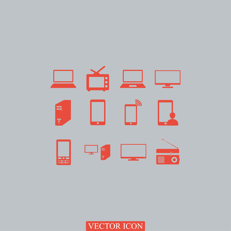 communications tower: Communication device icons, vector best flat icon, EPS
