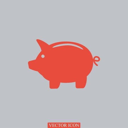 Piggy bank icon, vector best flat icon Illustration
