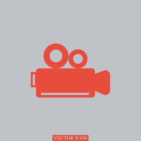 video camera icon, vector best flat icon