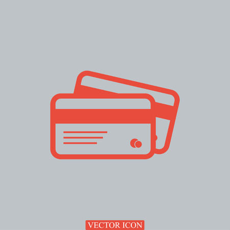 card icon, vector best flat icon Illustration