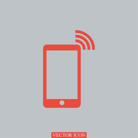 directorio telefonico: icono de tel�fono, vector icono de mejor plana Vectores