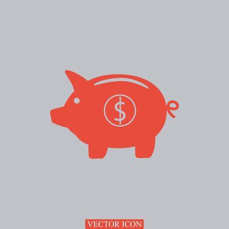 mumps: Piggy bank- saving money icon, vector best flat icon