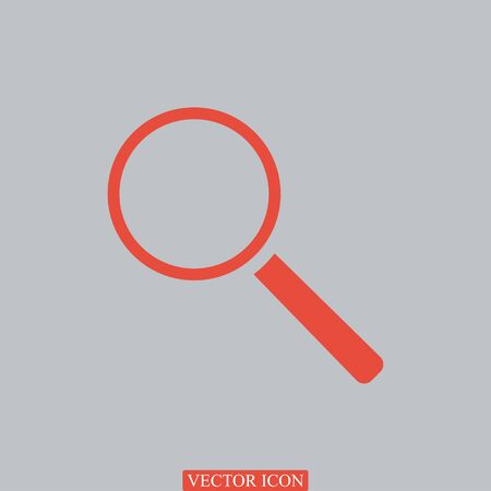 Magnifying Glass, vector best flat icon, EPS