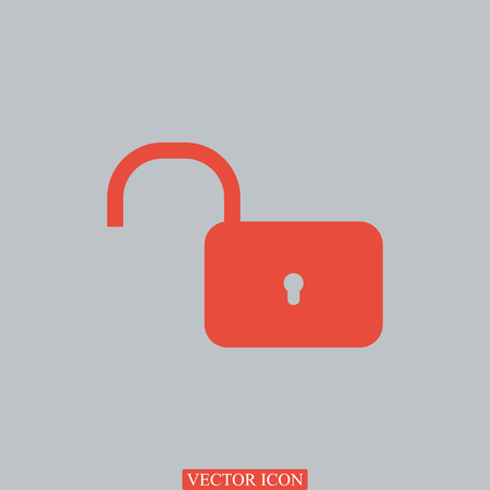 Lock icon Vector, vector best flat icon Illustration