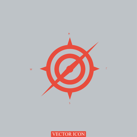 compass icon, vector best flat icon