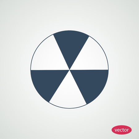 barrels with nuclear waste: radioactive sign sprayed on metal barrel icon Illustration