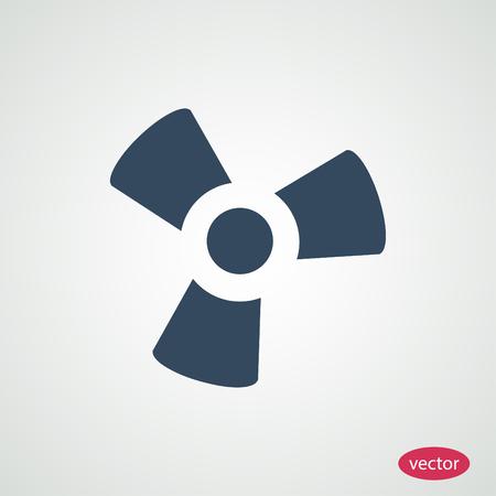 black fan: black fan and propeller icon