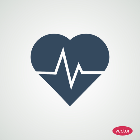 patient chart: heartbeat vector icon