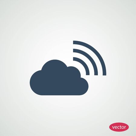 airplay: cloud icon Illustration