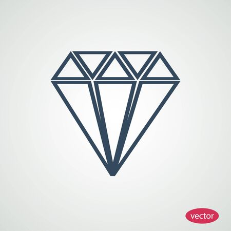 Diamond icon Illustration