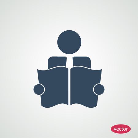 book reader: Book Reader Sign Icon