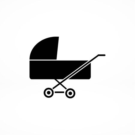 babysitter: pram icon, vector best flat icon, EPS