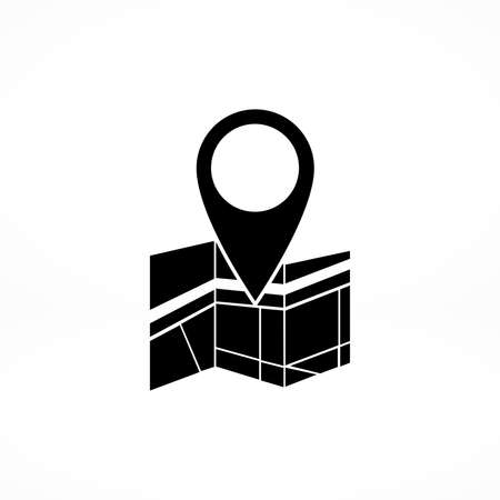 map pin: Vector map icon with Pin