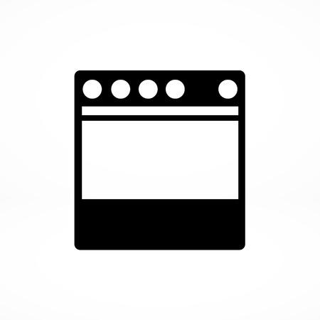 stove: stove icon Illustration