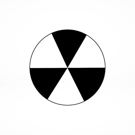 radioactive tank and warning sign: radioactive sign sprayed on metal barrel icon Illustration