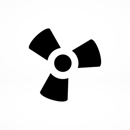 propeller: black fan and propeller icon