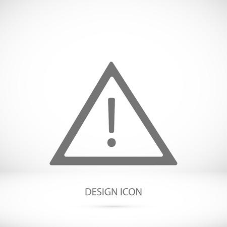 경고 roadsign 아이콘, 벡터 최고의 평면 아이콘