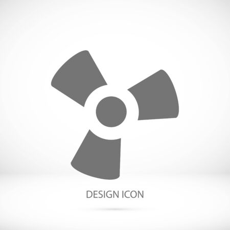 black fan and propeller icon, vector best flat icon Illustration