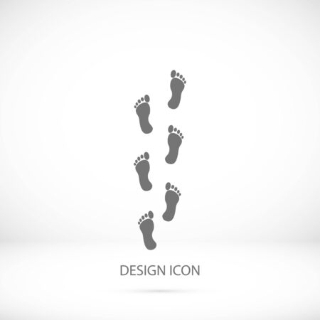 to commit: foot icon, vector best flat icon