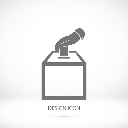 elect: vot ballot icon, vector best flat icon Illustration