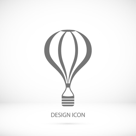aerostat: The air balloon icon, vector best flat icon Illustration