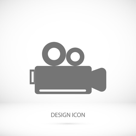 news flash: video camera icon, vector best flat icon
