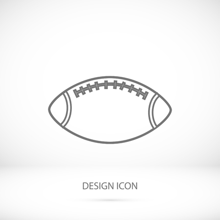 post teen: Rugby Ball icon, vector best flat icon Illustration