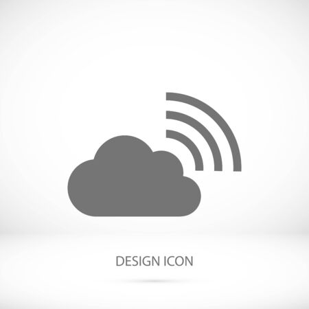 airplay: black cloud icon, vector best flat icon