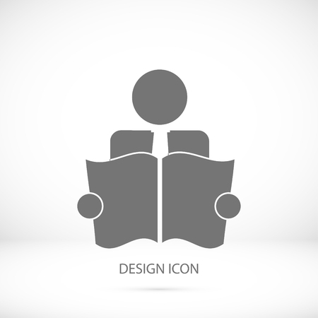 book reader: Book Reader Sign Icon, vector best flat icon, Illustration