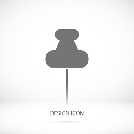 fixation: pushpins icon, vector best flat icon